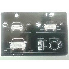 LED dienos žibintai + FOG  90mm