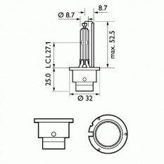 Lemputė PHILIPS D2S VISION (85122VIC1)