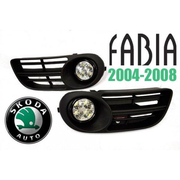 LED dienos žibintai Skoda Fabia 2004-2008