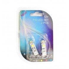 LED lemputės W5W 12V 3xSMD 5050 CANBUS White