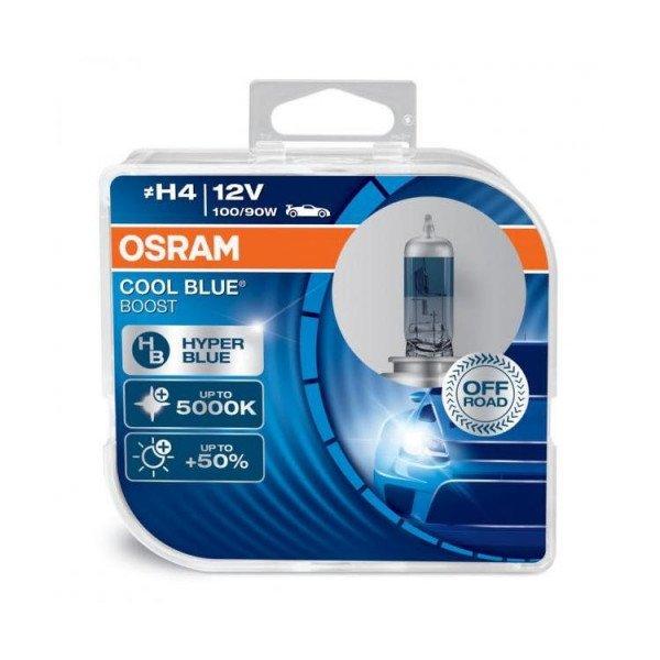 Osram lemputės COOL BLUE H4 Hyper  Boost