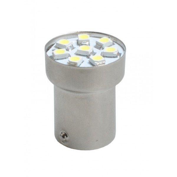 LED lemputė  BA15s G18 8xSMD3528 White