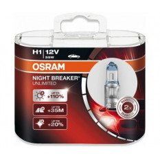 Osram lemputės NIGHT BREAKER UNLIMITED H1
