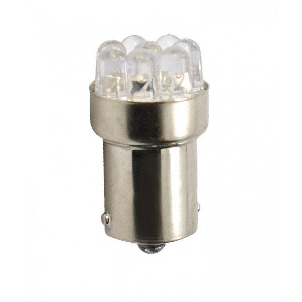 LED lemputė  BA15s 24V 9LED