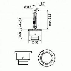 Lemputė PHILIPS D2R BlueVision Ultra (85126BVUC1)