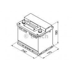 Akumuliatorius Bosch 56Ah 480A (S3006) + -
