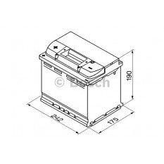 Akumuliatorius Bosch 60Ah 540A (S4006)