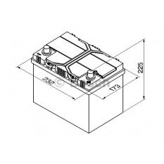 Akumuliatorius Bosch 60Ah 540A (S4024)