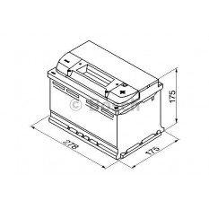 Akumuliatorius Bosch 74Ah 750A (S5007)