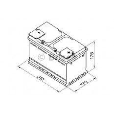 Akumuliatorius Bosch 85Ah 800A (S5010)