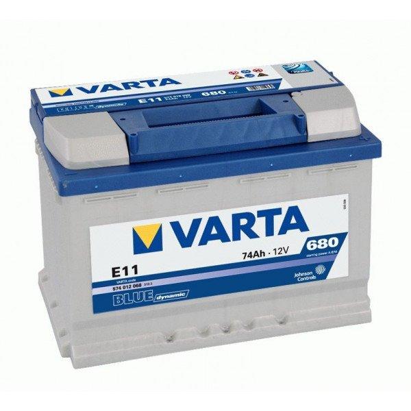 Akumuliatorius VARTA 74 Ah 680 A (E11)