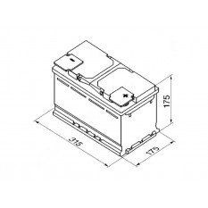 Akumuliatorius VARTA 80 Ah 740 A (F17)