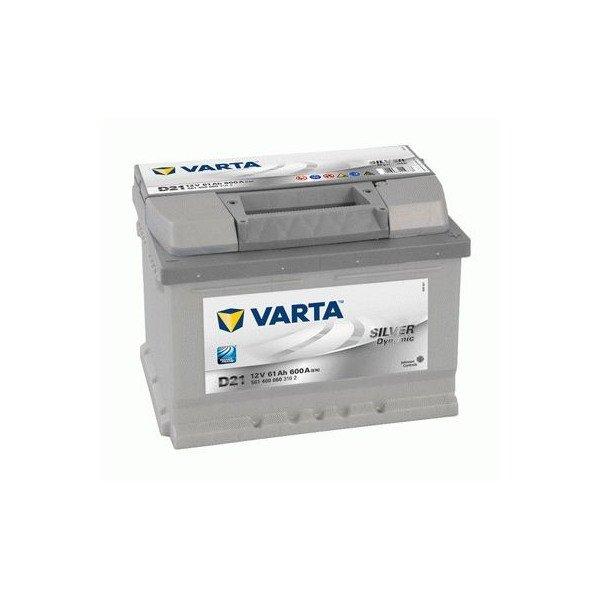 Akumuliatorius VARTA 61 Ah 600 A (D21)