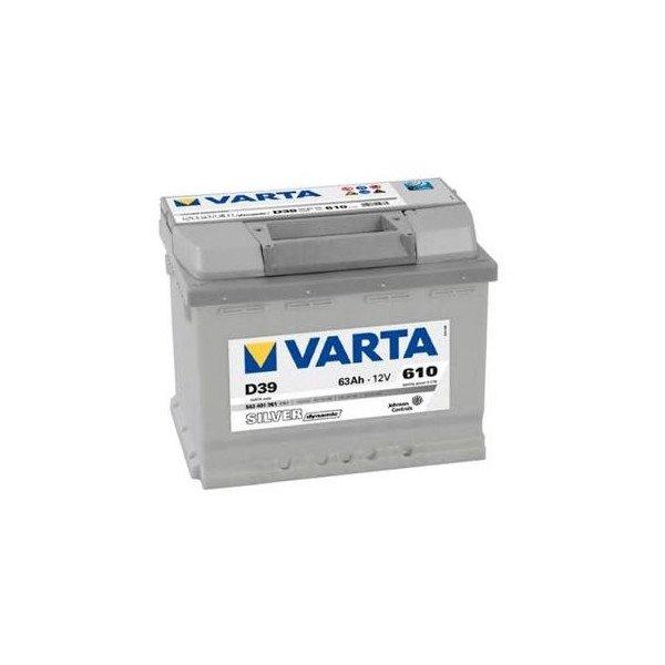 Akumuliatorius VARTA  63Ah 610A (D39)