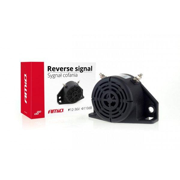 Garsinis atbulinės eigos signalas 12-36V