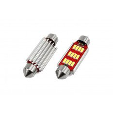 LED lemputė CANBUS  Festoon 36mm White 12V/24V 12SMD