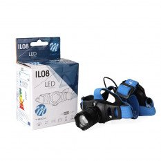 LED žibintas ant galvos  IL08 3xAAA