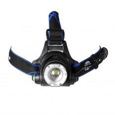 LED žibintas ant galvos IL09 pakraunamas  T6 3xAA