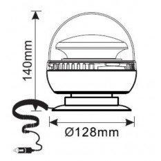 LED signalinis švyturėlis magnetinis R65 R10  LW0030