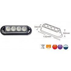 LED strobo light 4x LED 12/24V orange R65 R10 L2298-ALR