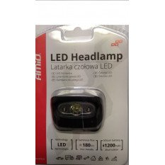 LED žibintas ant galvos įkraunamas 3W 1200mA 180Flux IPX4