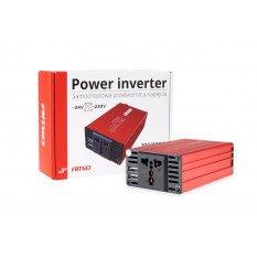 Inverteris įtampos keitiklis 24V 220V  300W 600W