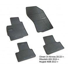 Guminiai  kilimėliai Peugeot 4008 2012+ /4pc, 0480