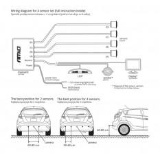 Parkavimo sistema su LED ir 4 davikliais  MAX LED