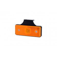 Rectangular position light HOR 42, LED 12 / 24V, orange (with hanger, with handle behind the light)