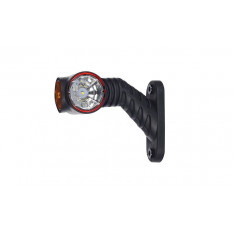 Contour light triple HOR 77A - REFLECTIVE, RIGHT, short inclined arm, LED 12 / 24V (cable 0.5 m)