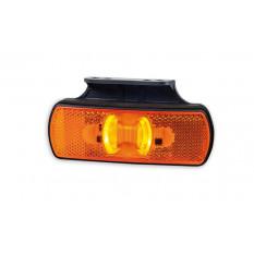 Position light with reflector HOR 85, orange, LED 12/24 V, with hanger