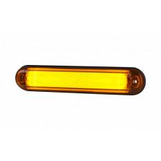 "Contour light type ""SLIM"" HOR 91 with optical fiber, LED 12/24 V, orange (2 wires 0.75 mm2, black - length 0.5 m)"