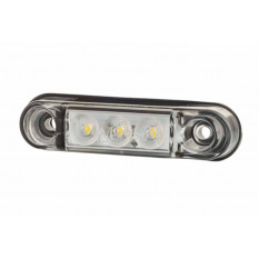 """Contour light type """"SLIM"""" HOR 95, white, LED 12/24 V (2 wires 0,75mm2, length 0,3m)"""