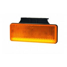 "Contour light type ""SLIM"" with reflector HOR 92, orange - neon strip with hanger, LED 12/24 V (2 wires 0.75 mm2, black - length"