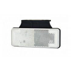 """Contour light type """"SLIM"""" with reflector HOR 92B, white - neon arcs with hanger, LED 12/24 V (2 wires 0,75mm2, black - length 0"""