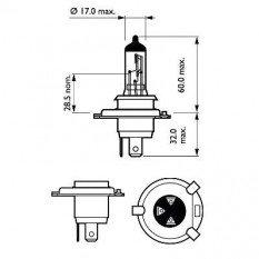 Lemputės H4 LongLife EcoVision
