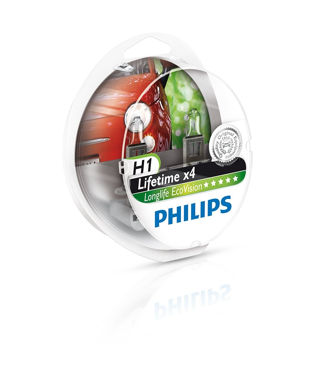 Philips lemputės Longlife Ecovision H1, H4, H7