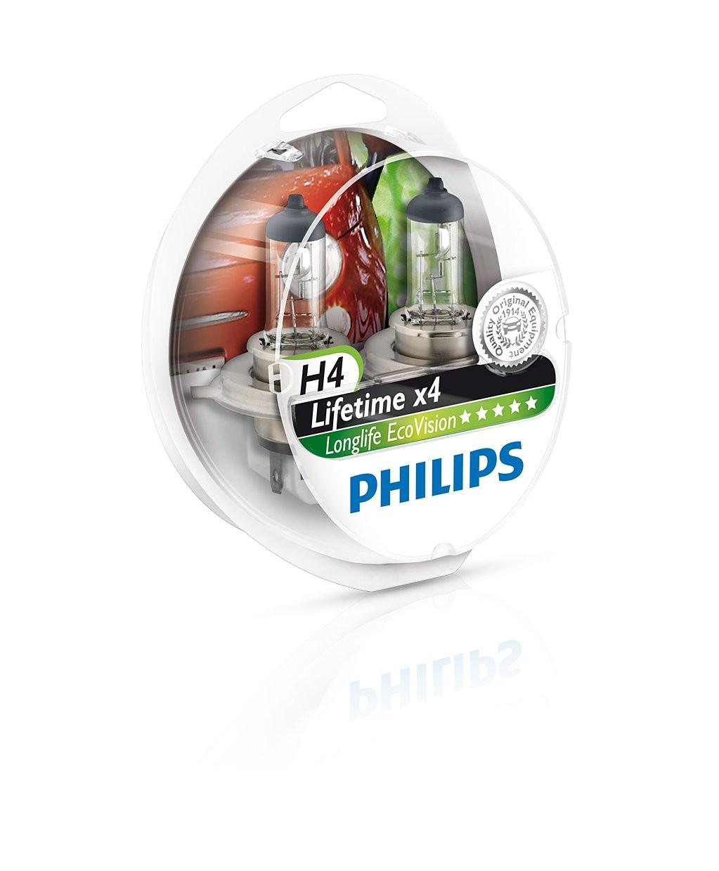 Philips lemputės Longlife Ecovision H4