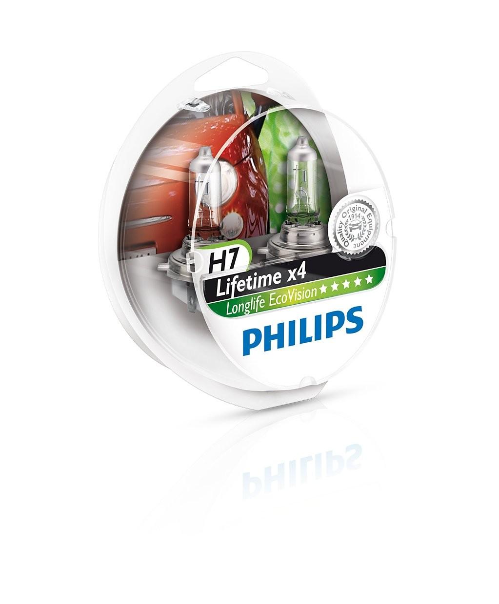 Philips lemputės Longlife Ecovision H7